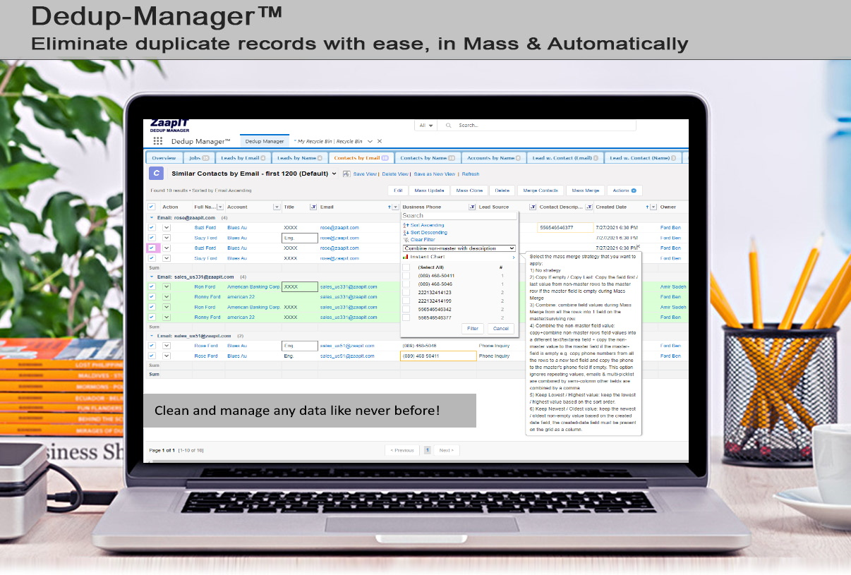 Mass Merge Contacts in Salesforce