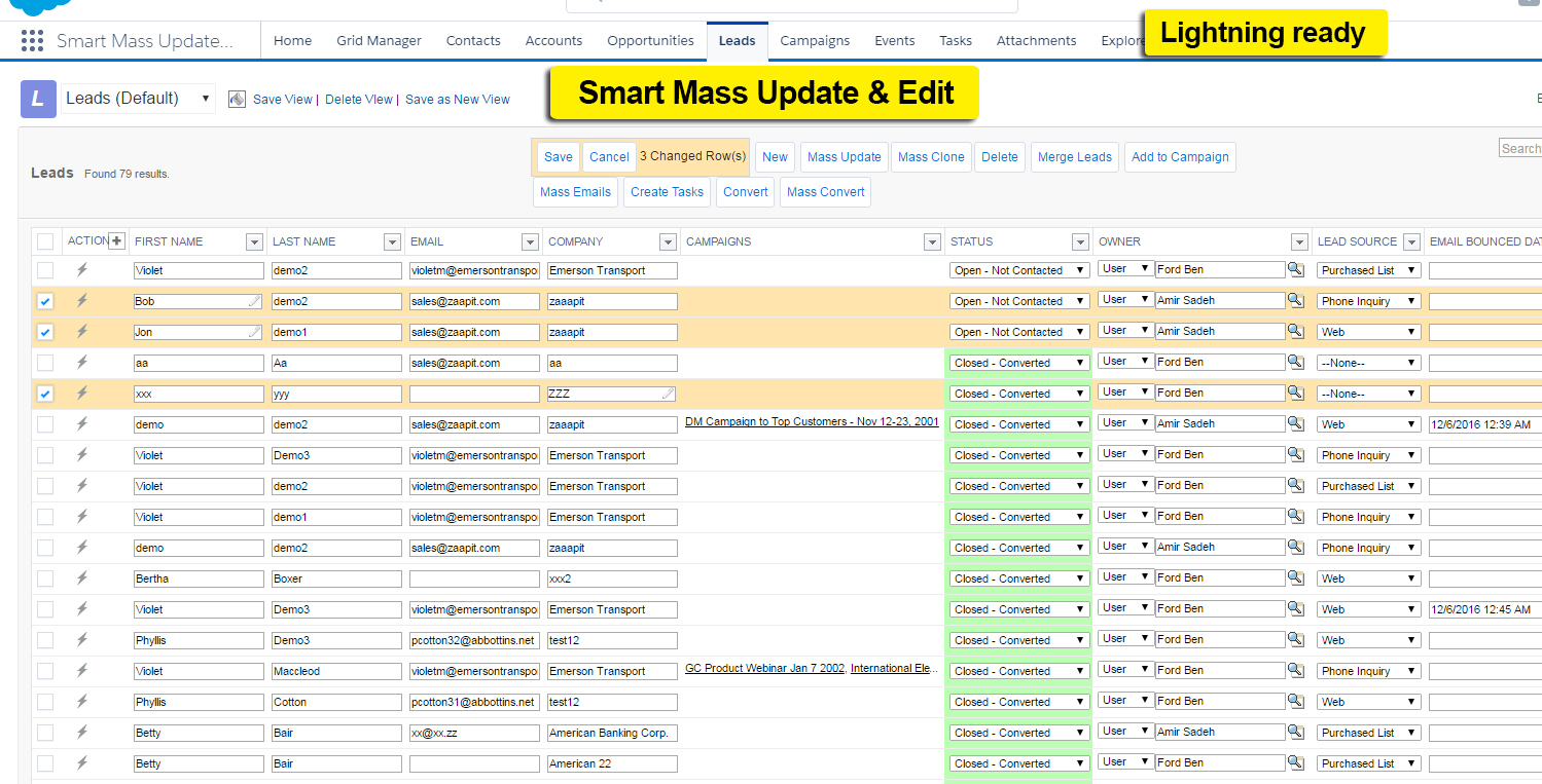 Smart Mass Update Edit Lightning Ready